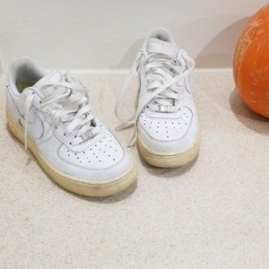 Nike Air force -1 82 white leather sneakers size 7